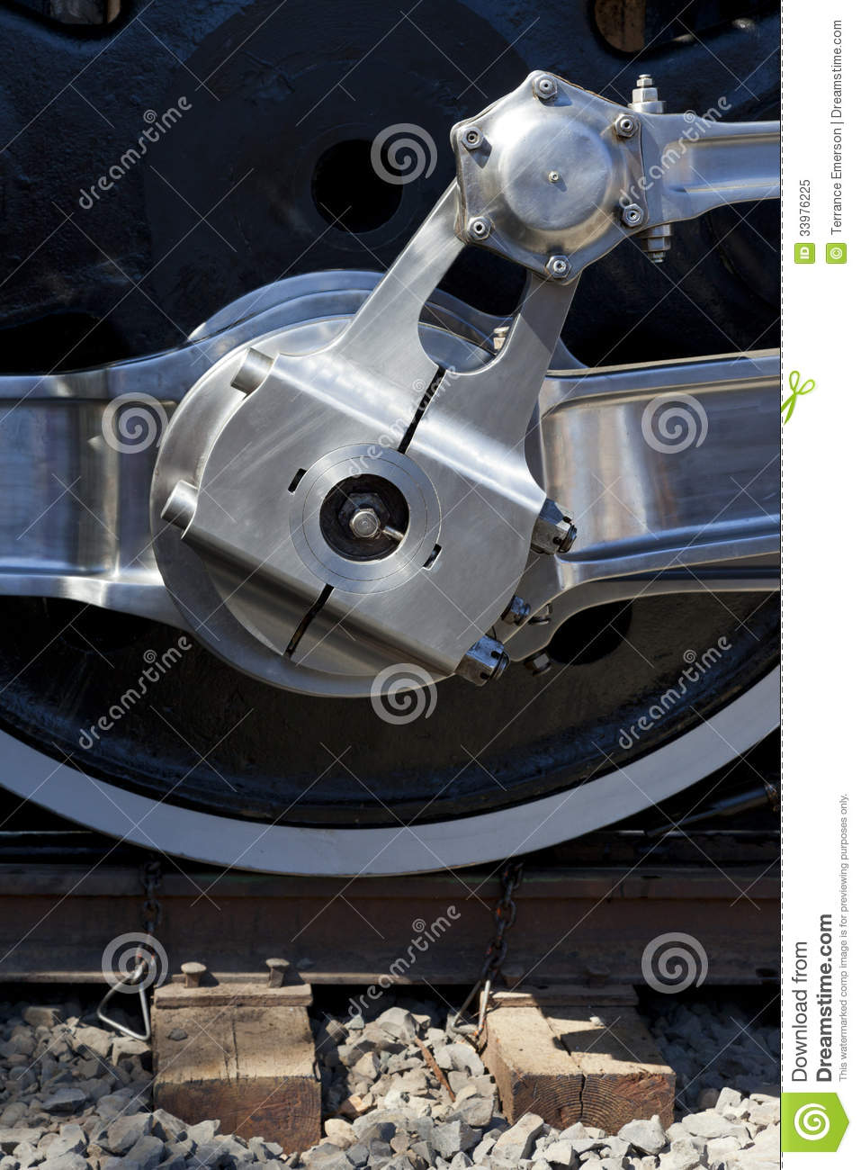 Steam Engine Wheel Driving : Drivers on steam locomotive royalty free stock photo