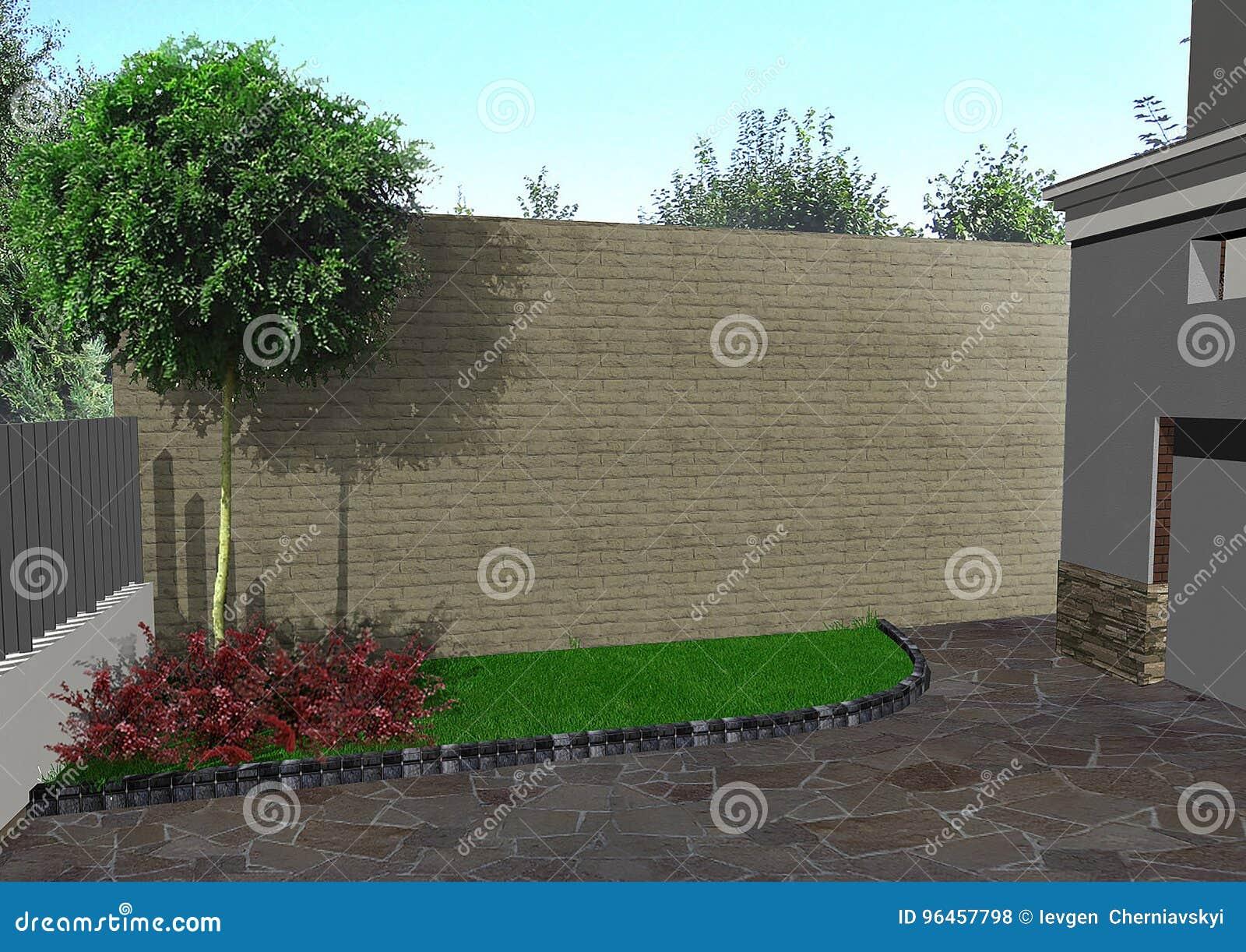 Driveway Design Ideas 3d Render Stock Illustration Illustration