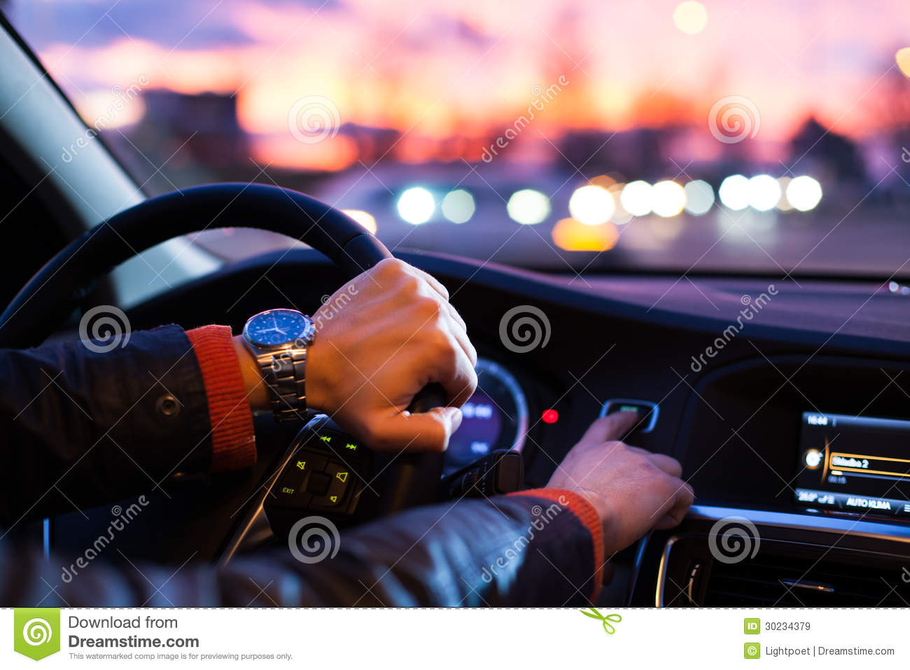 driving a car at night stock image image of driver