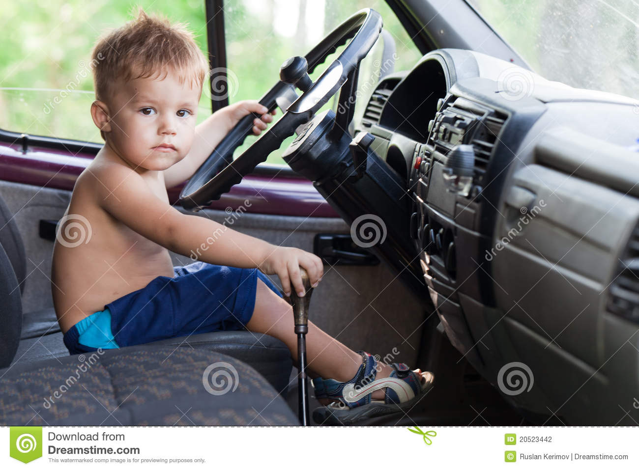 Year Old Kid Driving Car