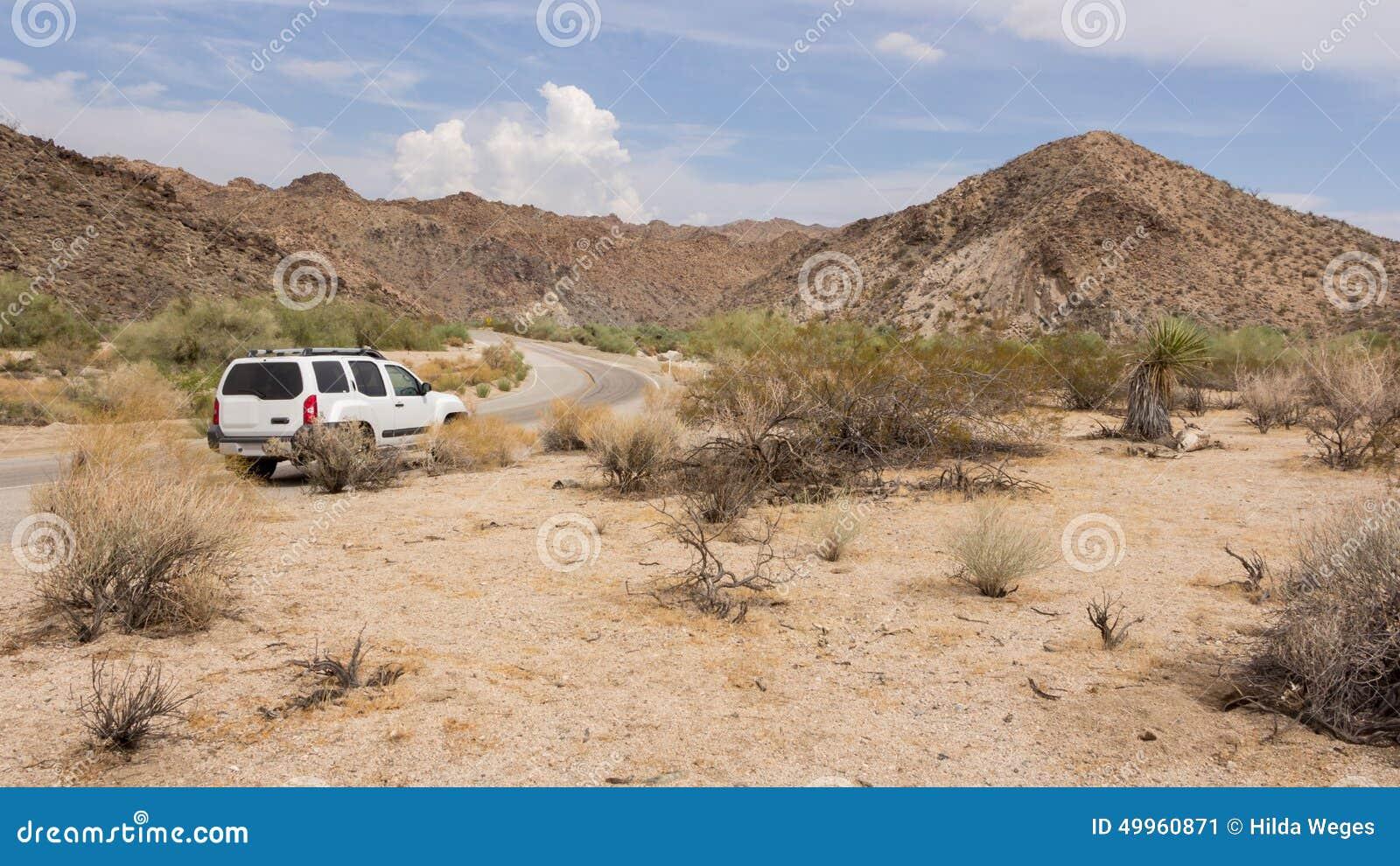 Driving through the desert in california us stock photo for Desert motor palm desert ca