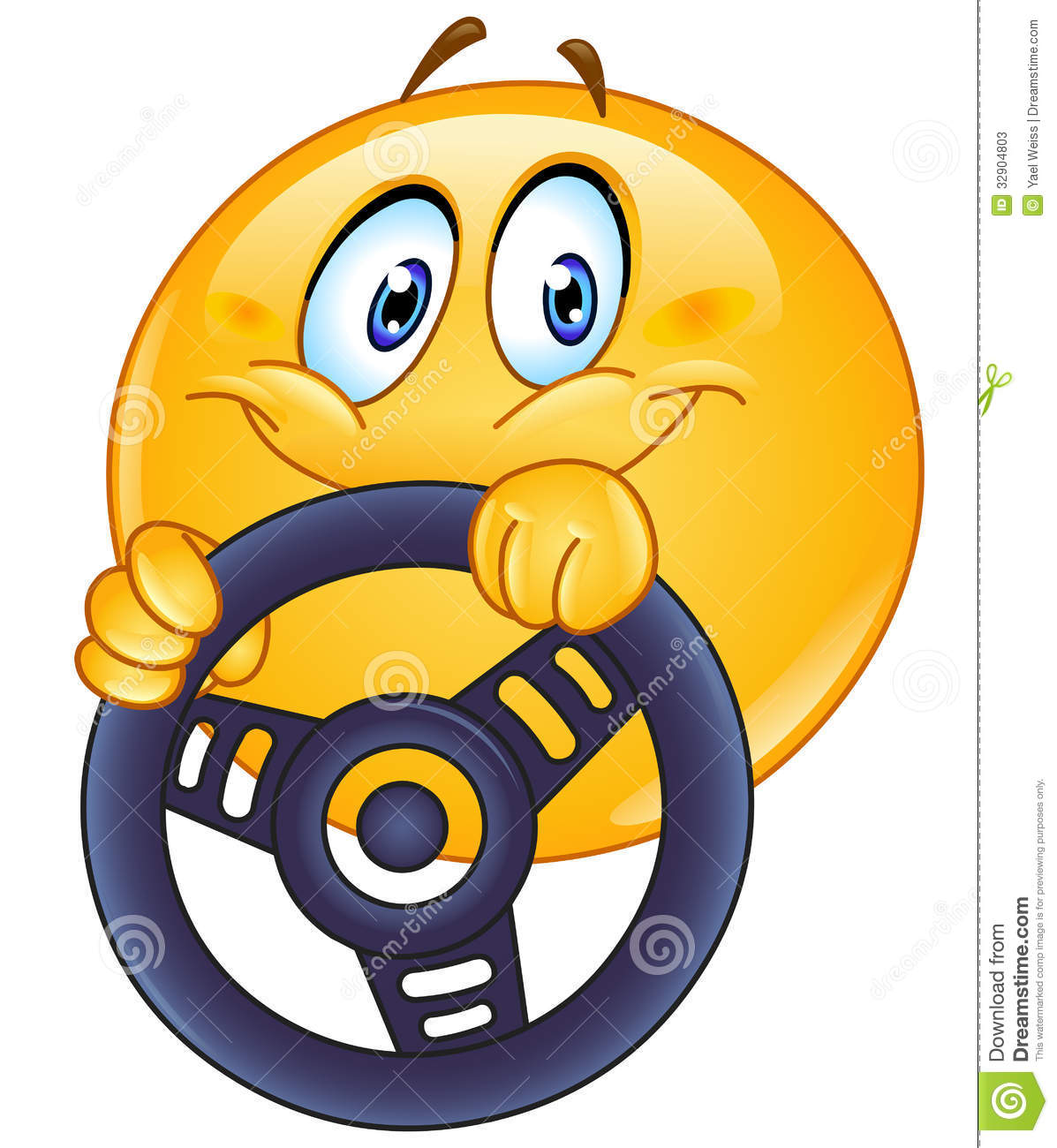 Driving Emoticon Stock Photos - Image: 32904803