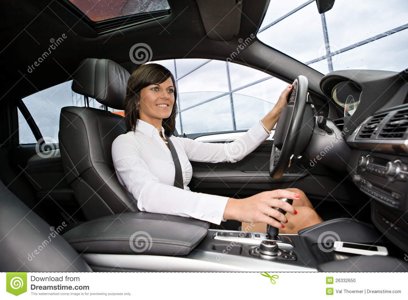 Drive Time Payment >> Driving Girl Stock Photo - Image: 26332650