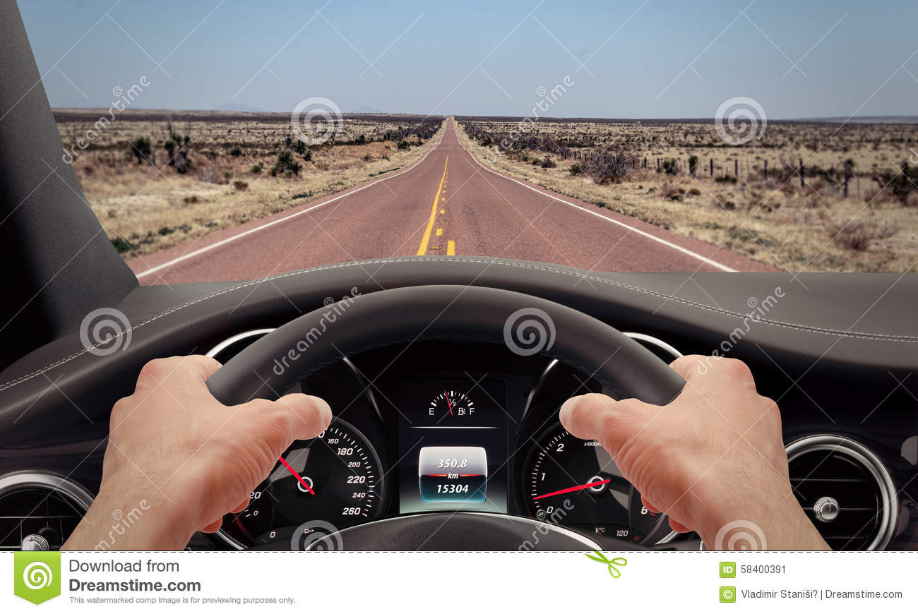 driving hands steering wheel stock photo image 58400391. Black Bedroom Furniture Sets. Home Design Ideas