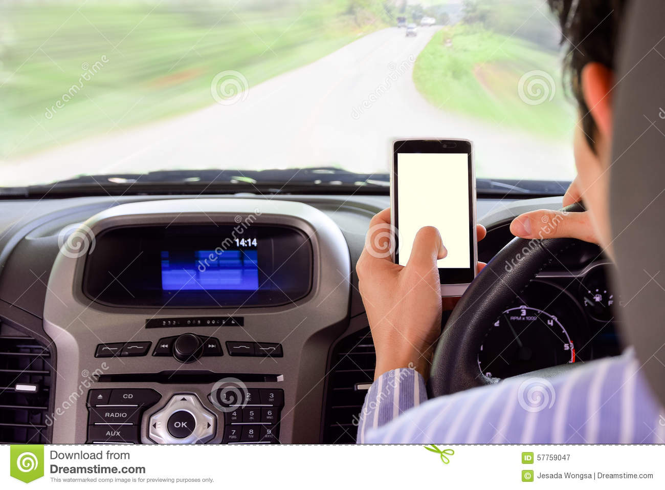Advise you Cell phone while driving phrase