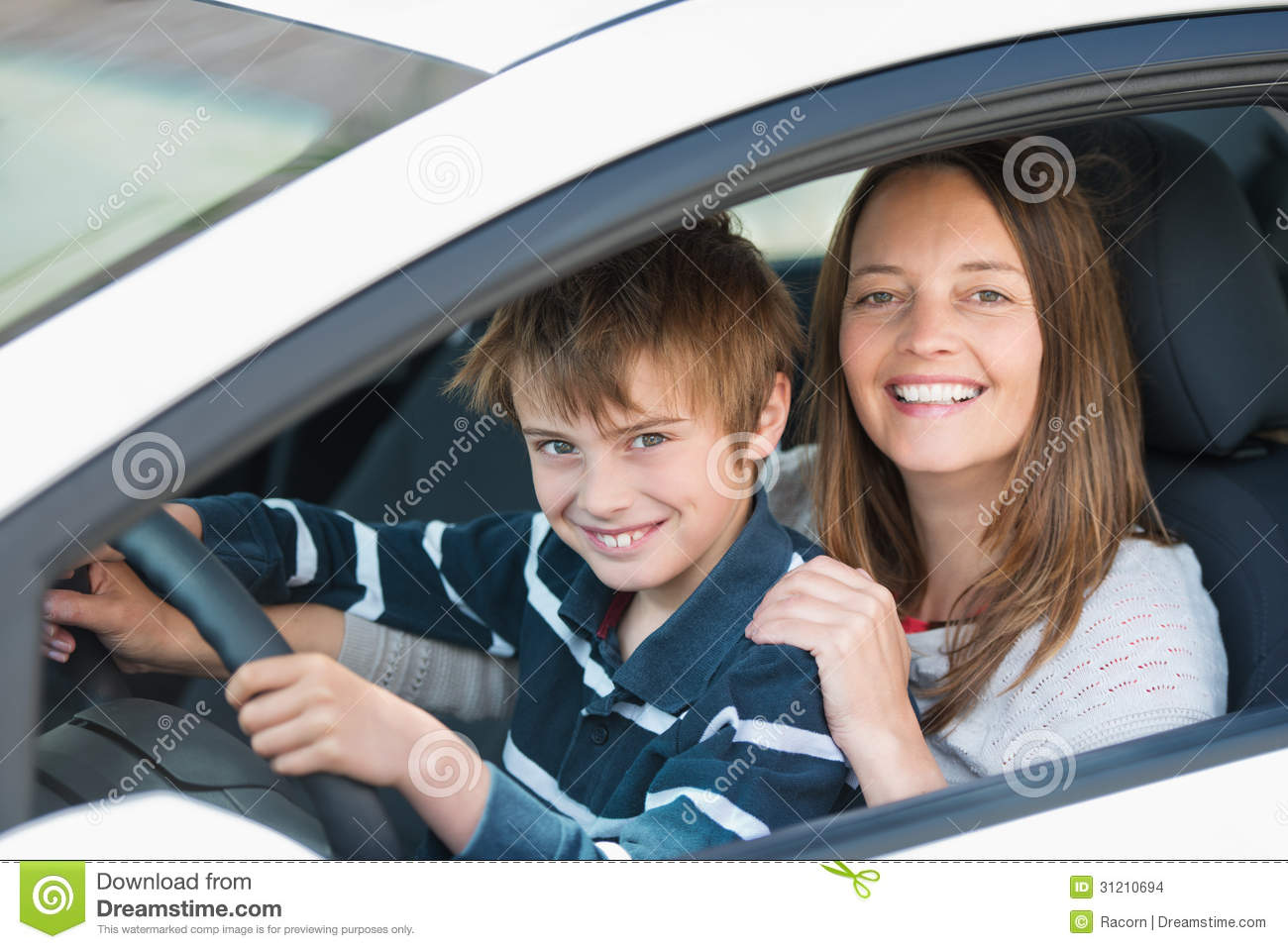 how to teach young driver stearing