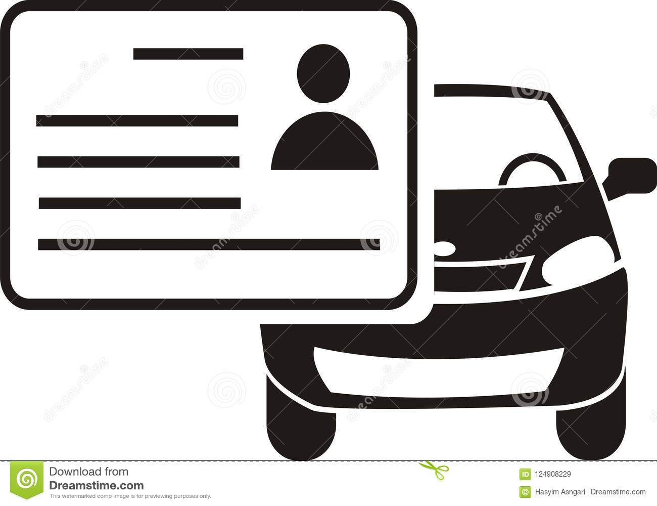 Cost Less Auto >> Driving License Icon Vector Stock Illustration - Illustration of driving, card: 124908229