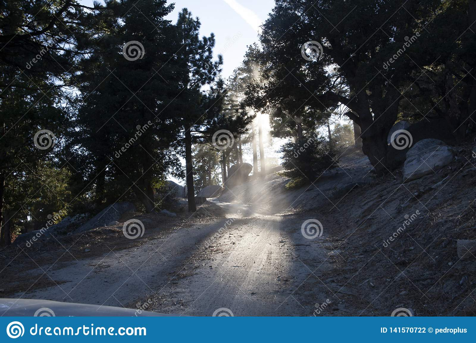 Driving on a sandy road