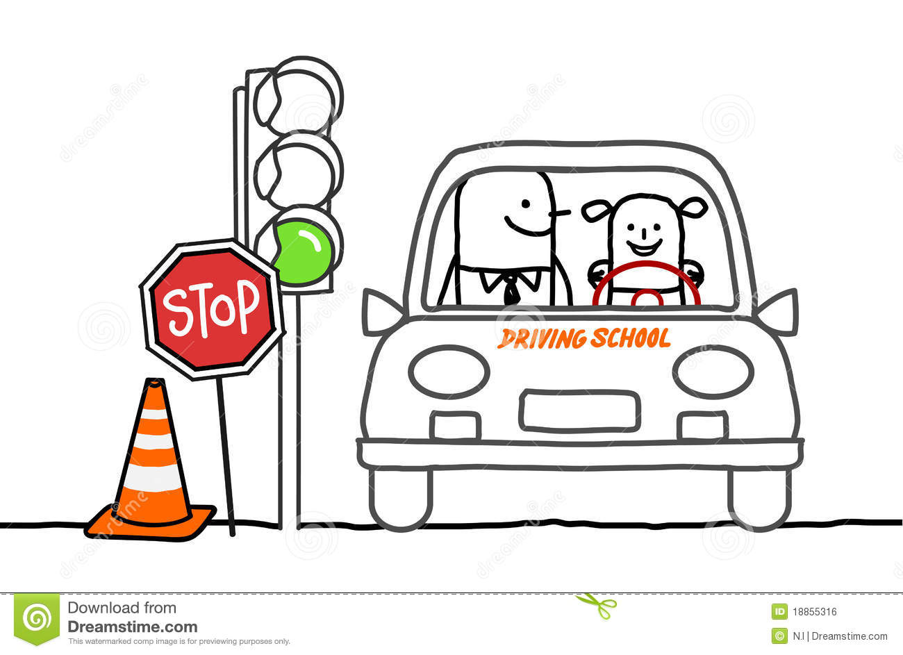 Driving School Royalty Free Stock Image Image 18855316