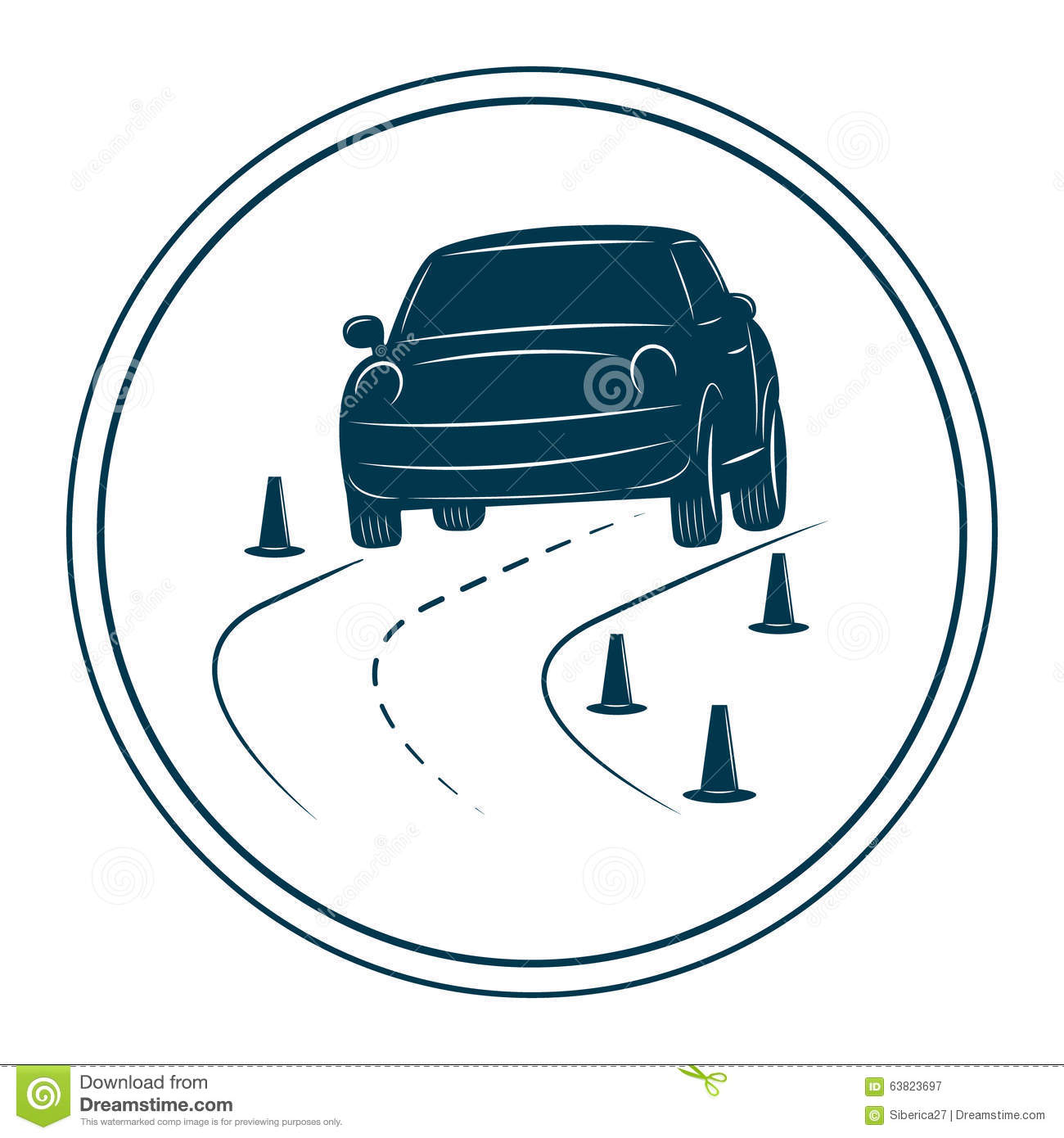 driving school logo template stock vector image 63823697