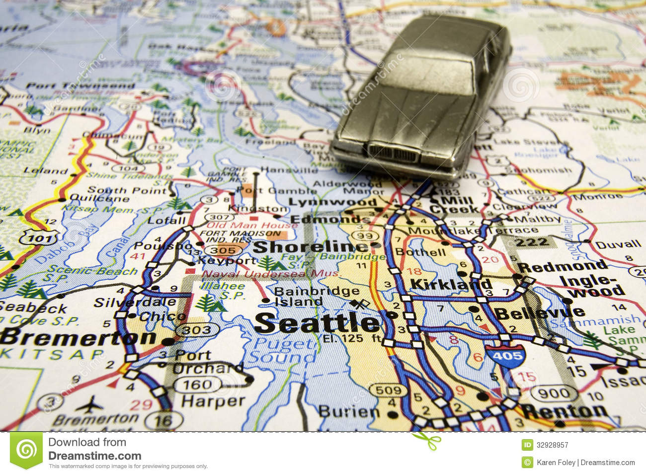 Driving In Seattle Royalty Free Stock Photography Image 32928957