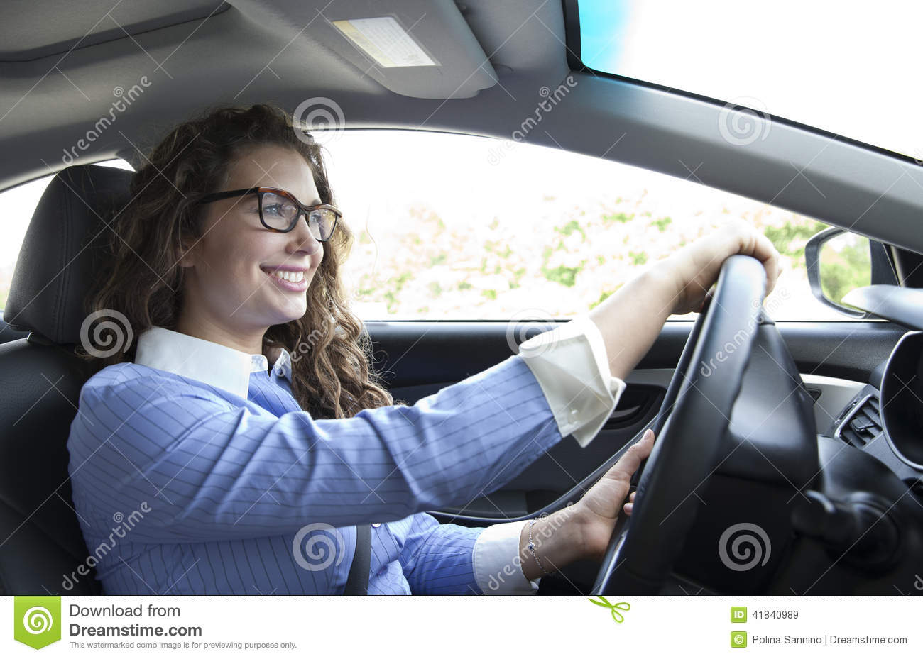Driving To Work Stock Photo - Image: 41840989