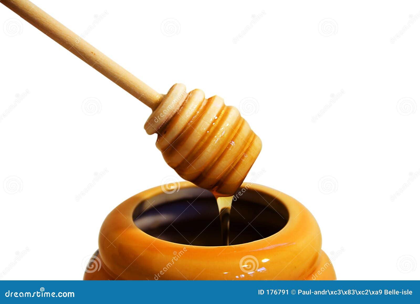 Drizzler de madera de la miel