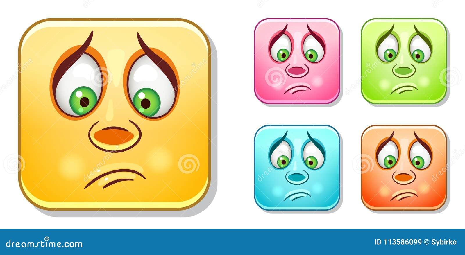 Droevige Emoticons-Inzameling
