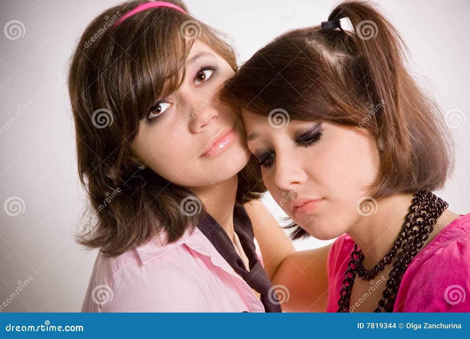 Droevige meisjestieners