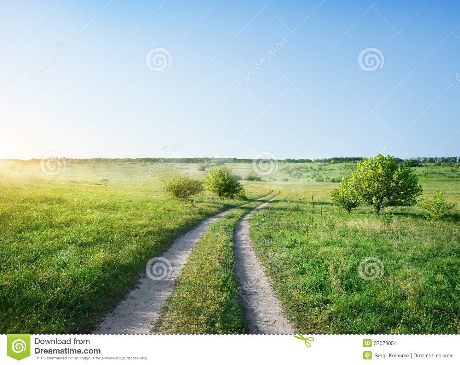 Droga i wschód słońca