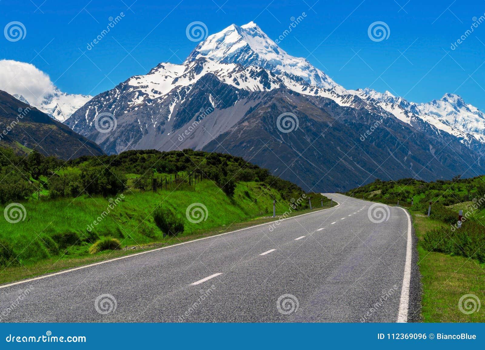Droga Mt Cook, Nowa Zelandia