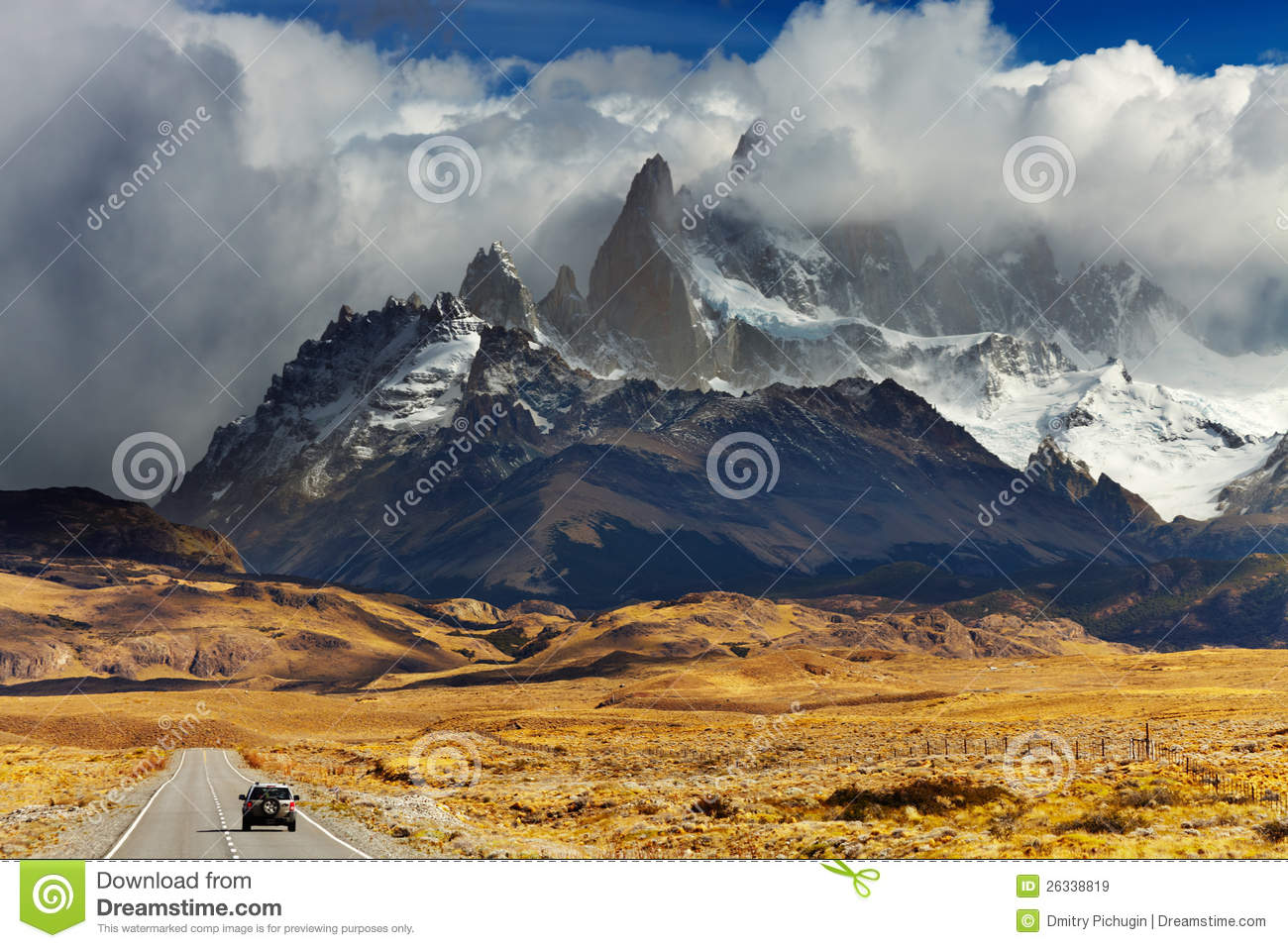 Droga TARGET890_0_ Fitz Roy, Patagonia, Argentyna