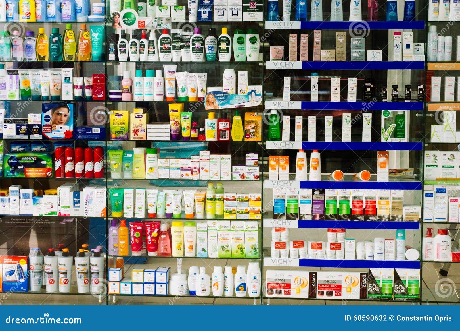 Drogas para a venda em uma farmácia