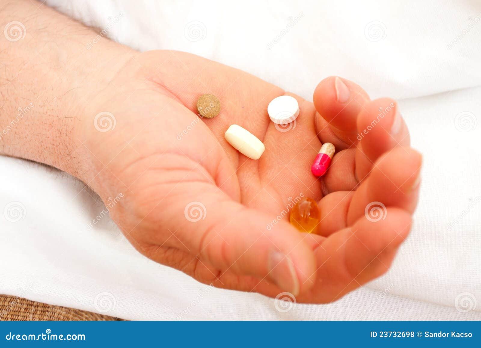 Drogen in der Hand
