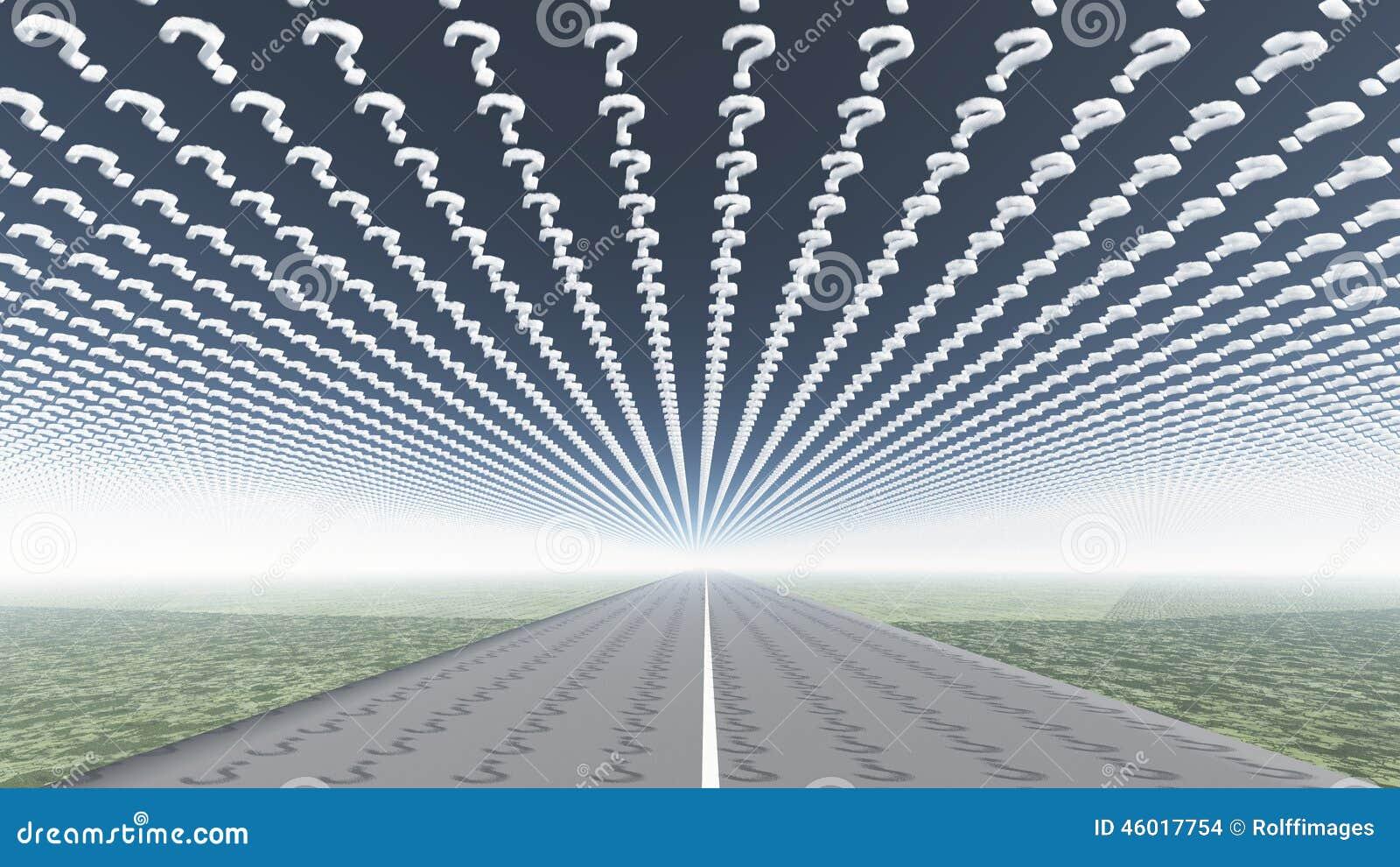 Drogi i znaka zapytania chmury