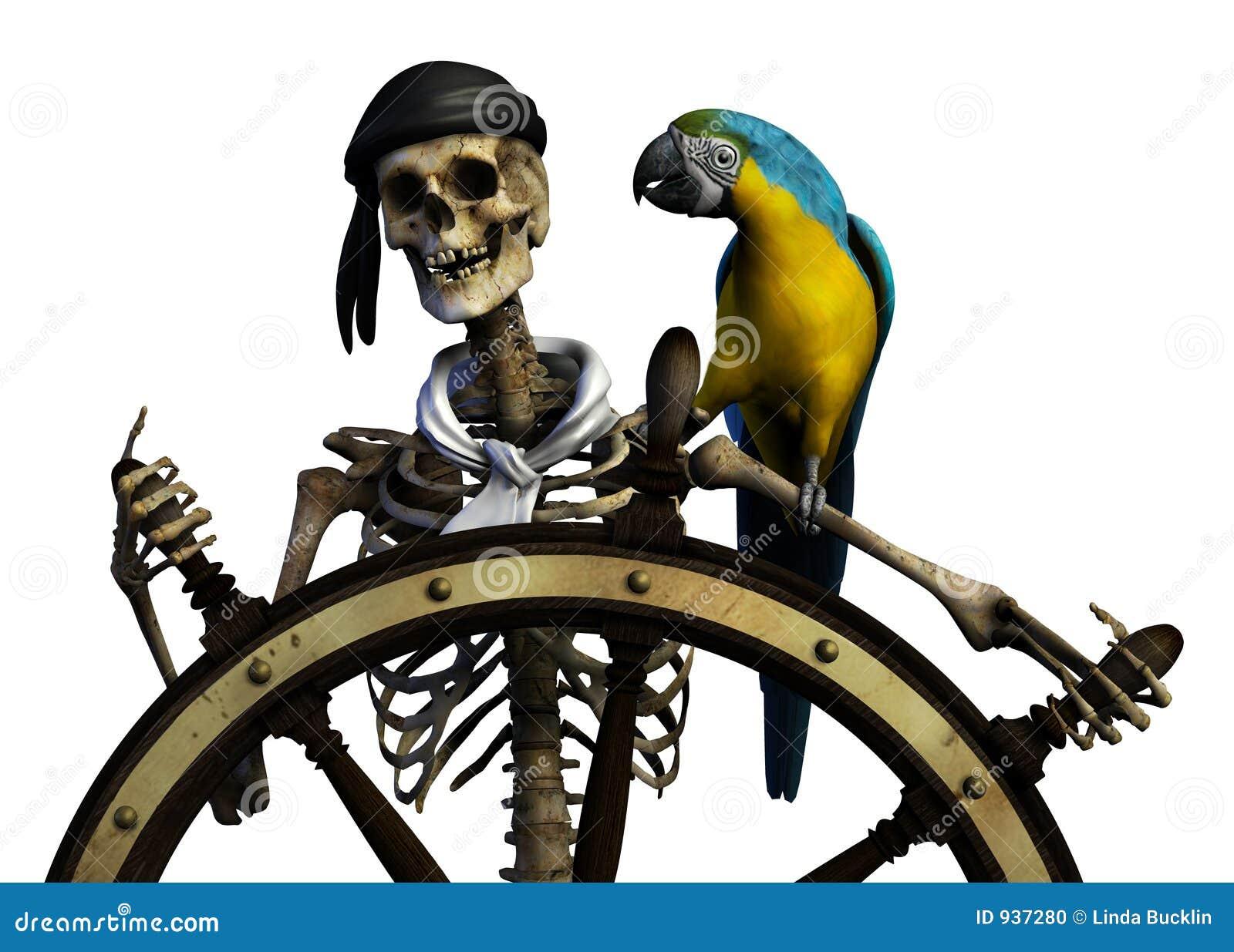 Drogi szkielet piratów wycinek