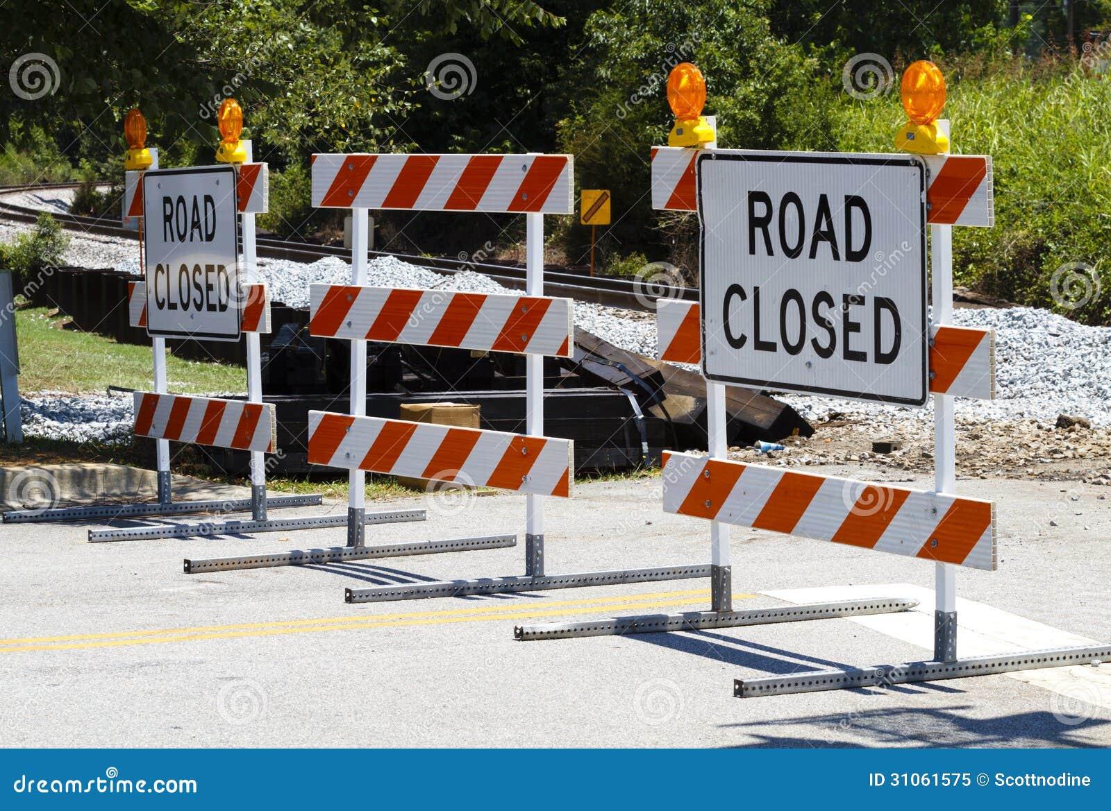 Drogi Zamykać barykady Przy linii kolejowej skrzyżowaniem