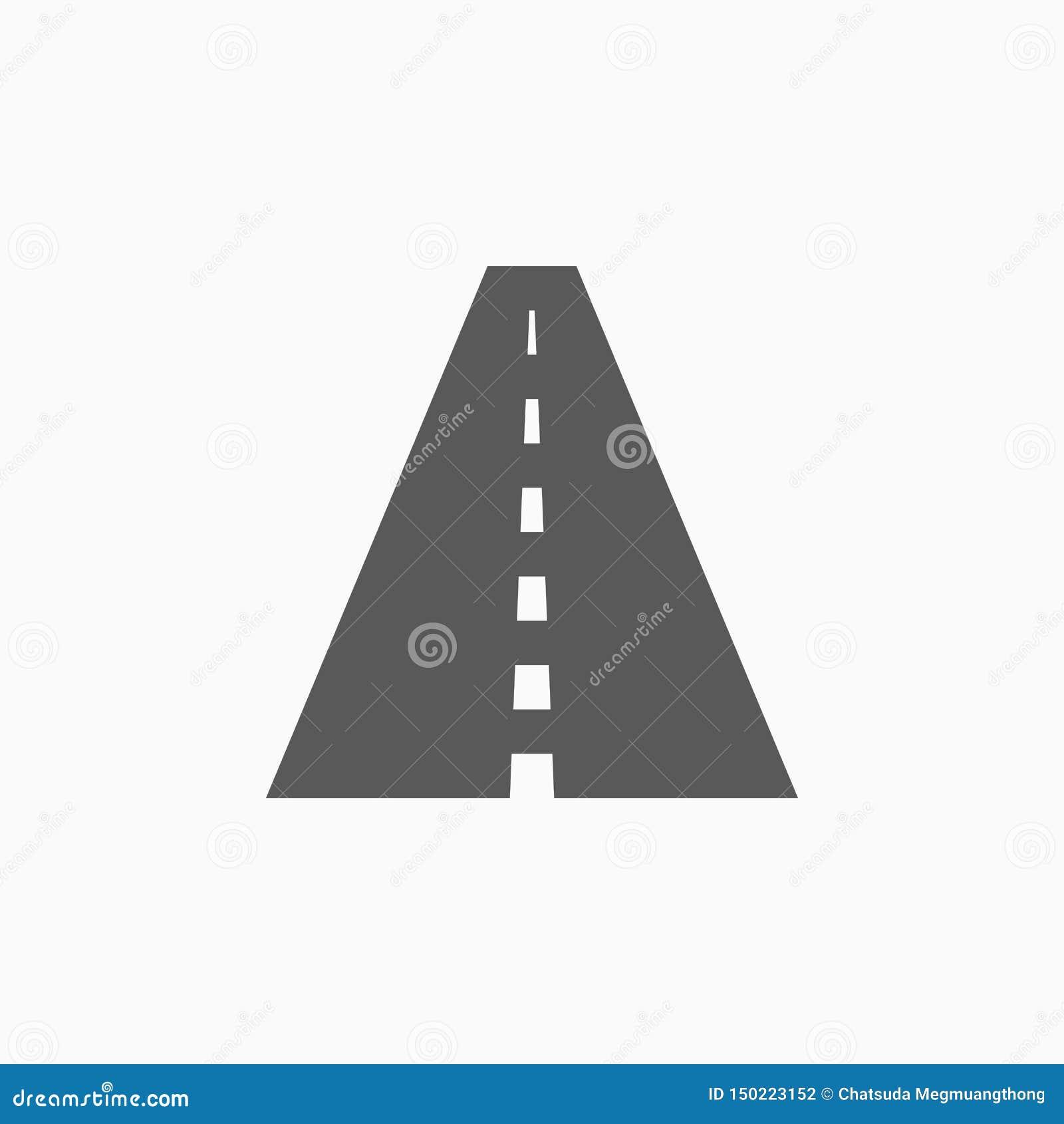 Drogowa ikona, ulica, jezdnia, podróż