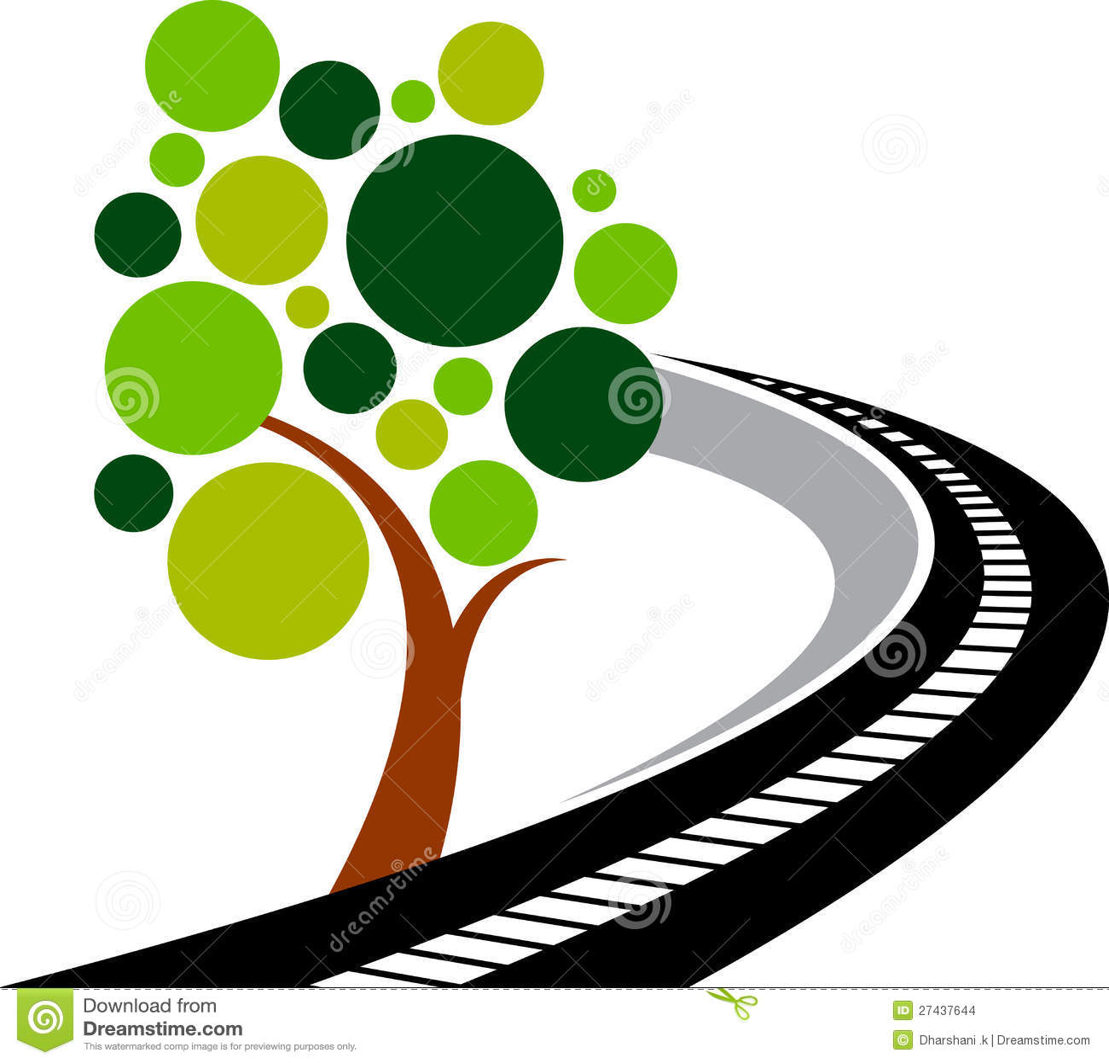 Drogowy drzewny logo