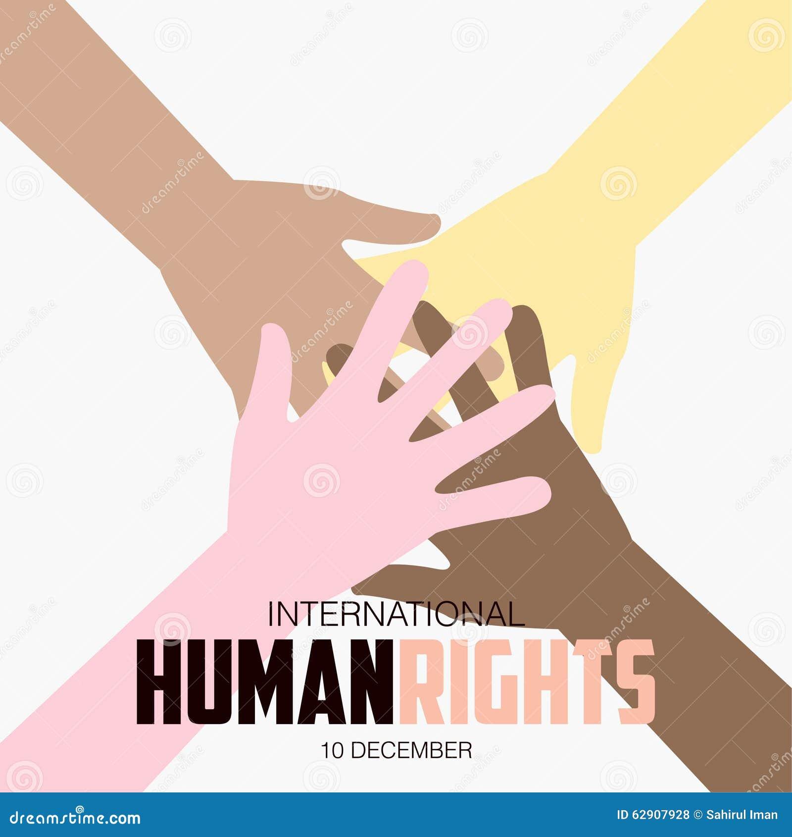 droits de l 39 homme jour affiche citations calibre illustration stock image 62907928. Black Bedroom Furniture Sets. Home Design Ideas