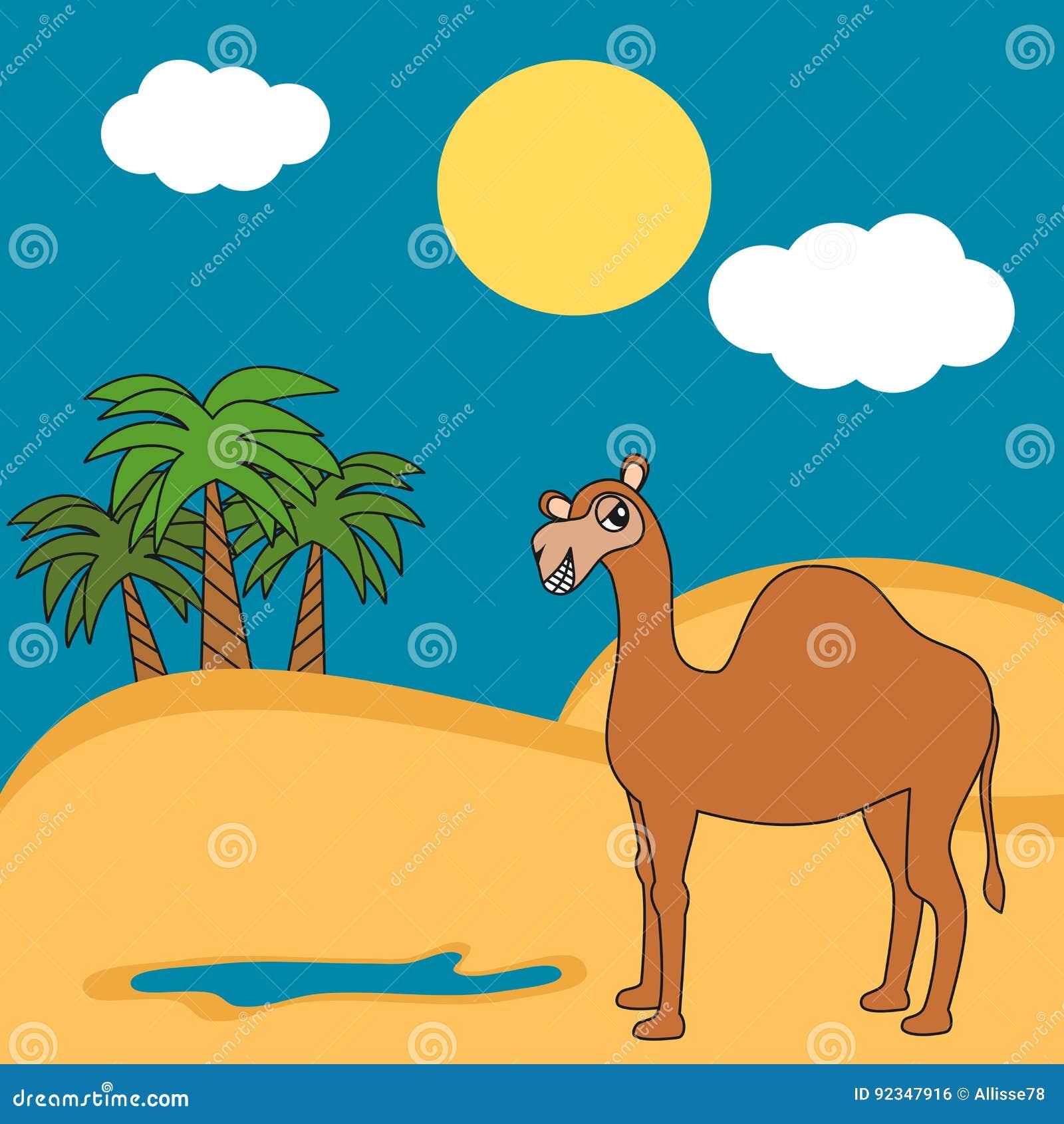 Dromedario Lindo Del Camello De La Historieta En El Ejemplo ...