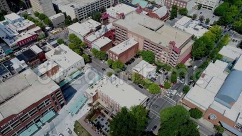 Drone Aerial Video of City of Raleigh, North Carolina  High, inner