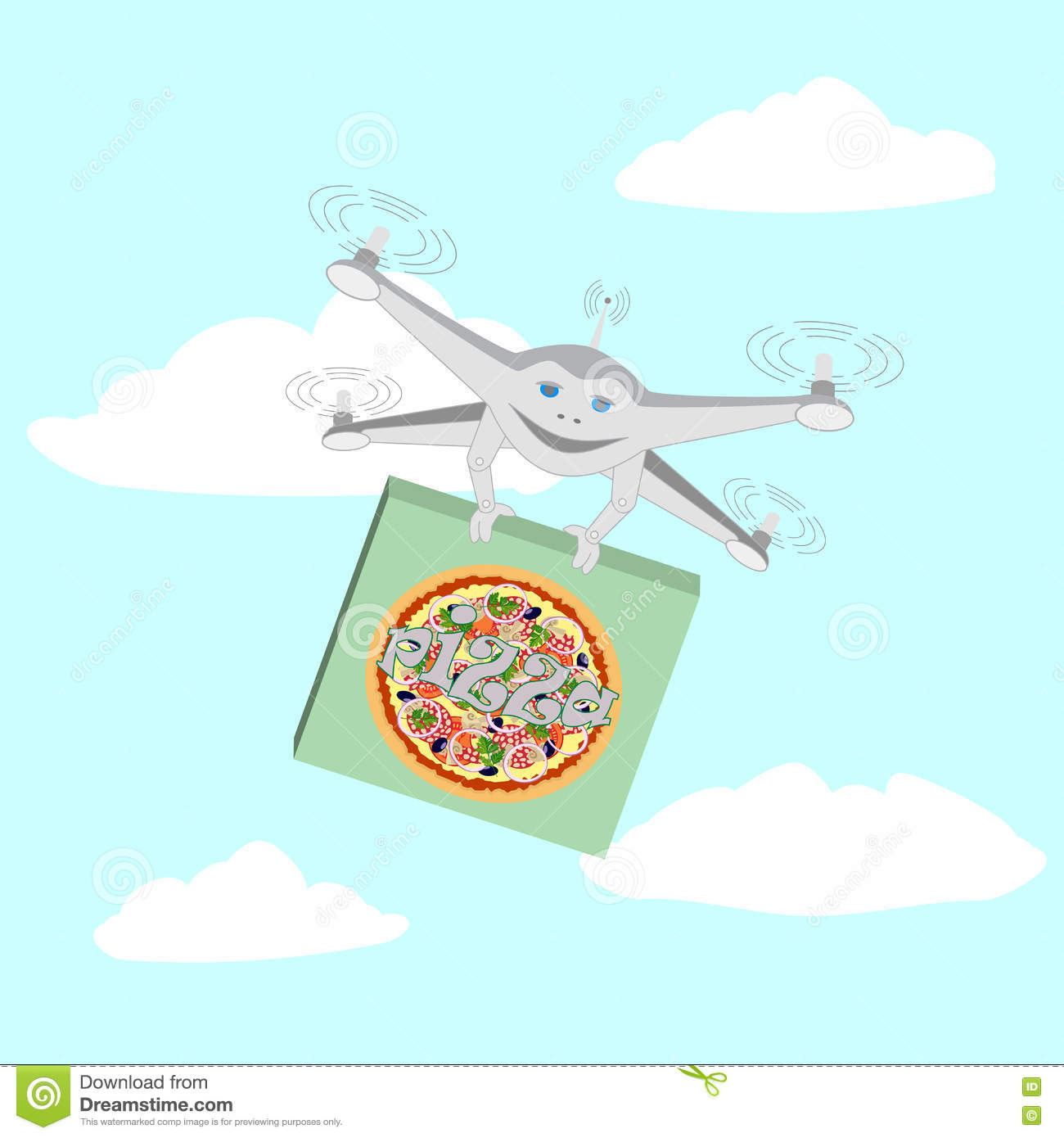 Drone Air Delivery Pizza