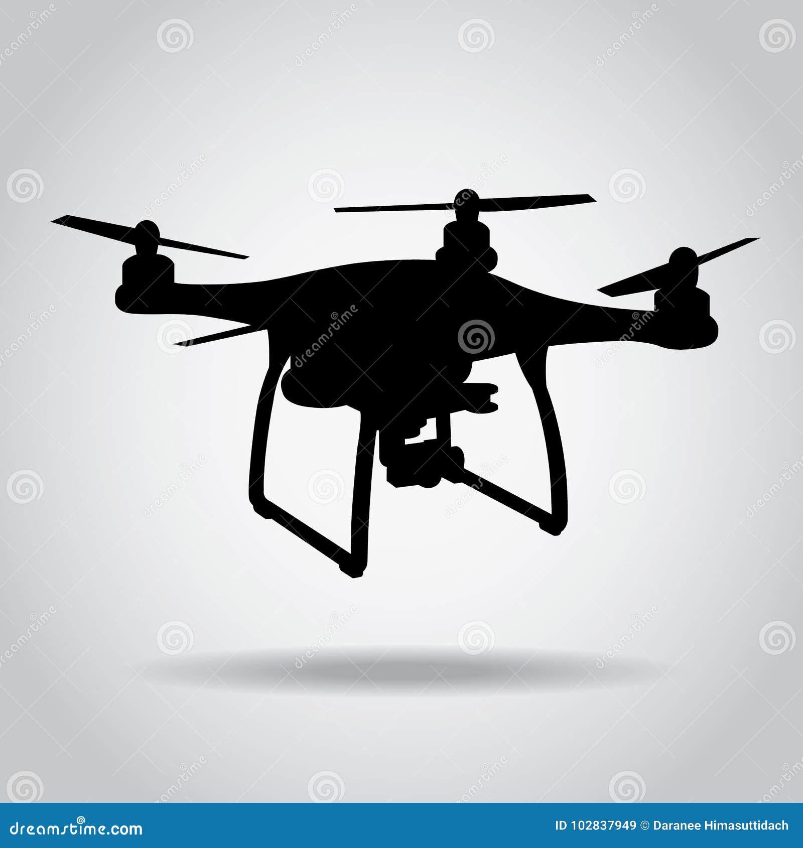 Download Drone Black Icon Camera Picture Video Vector Stock