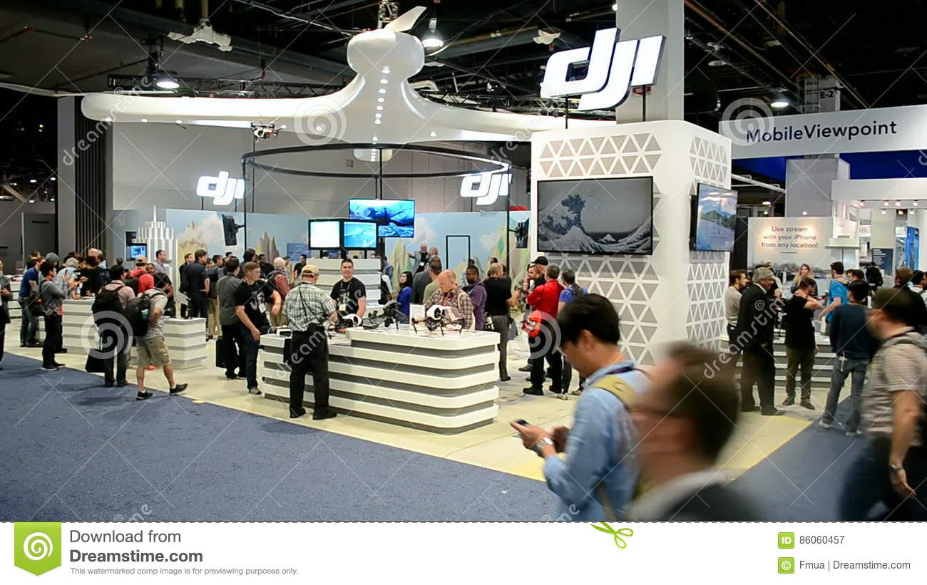 Exhibition Booth Las Vegas : Drone booth nab show exhibition in las vegas usa stock