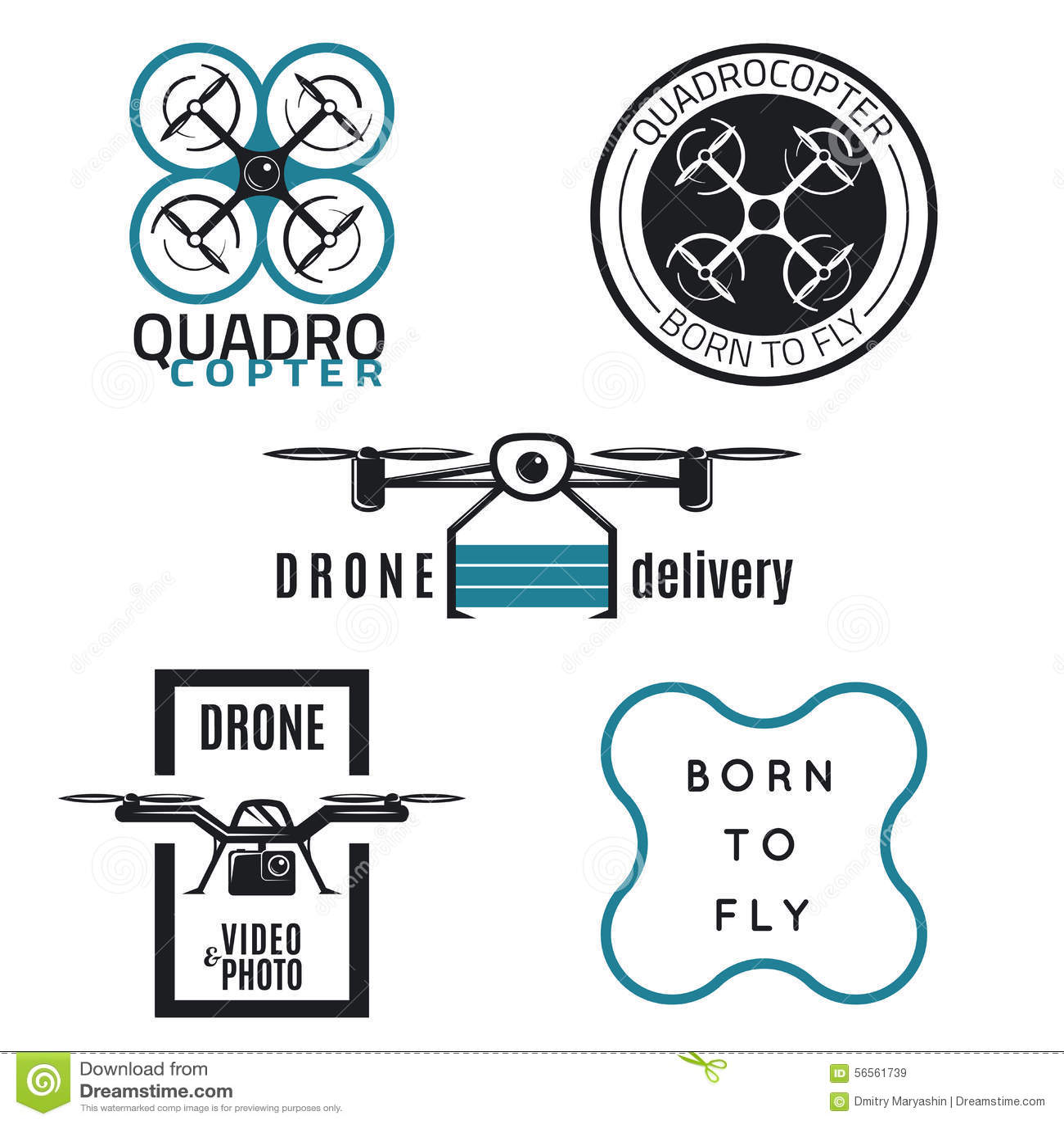 vector drone icons cartoon vector. Black Bedroom Furniture Sets. Home Design Ideas