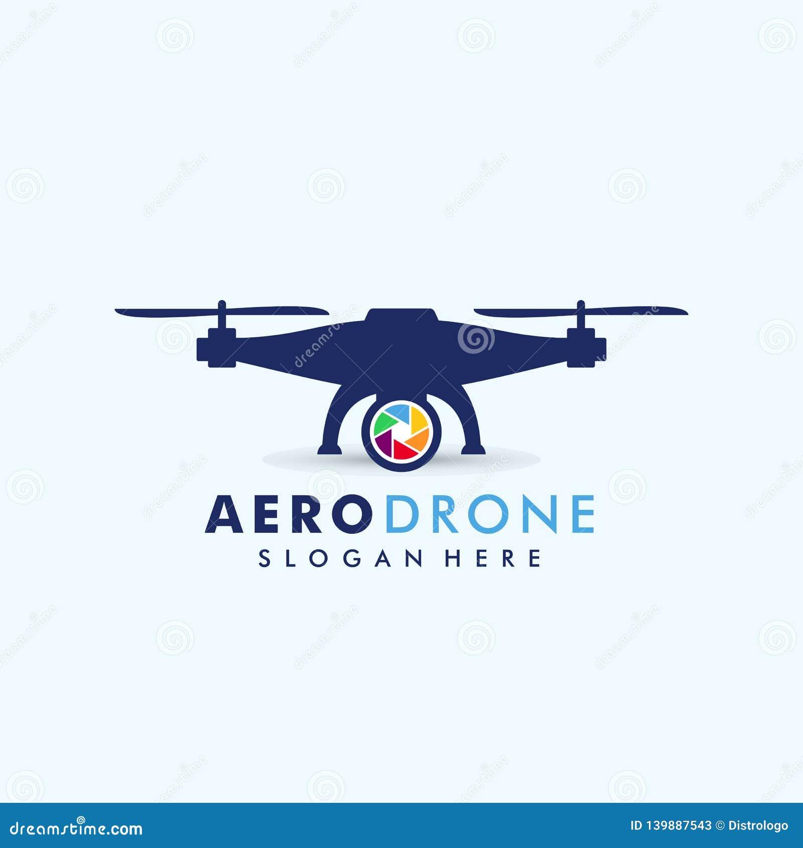 Drone Logo Template Vector Icon  Camera Drone Vector Design