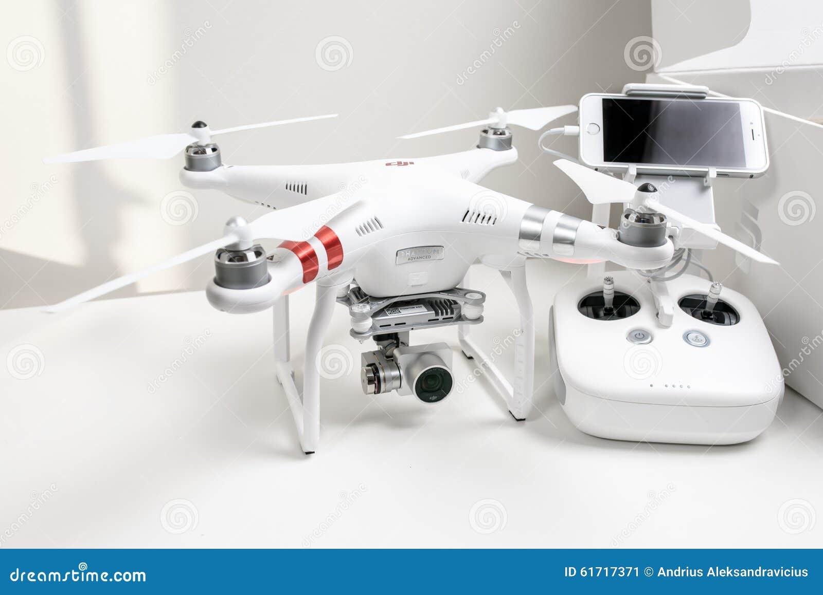 Drone Quadrocopter Dji Phantom 3 Advanced Editorial Photo