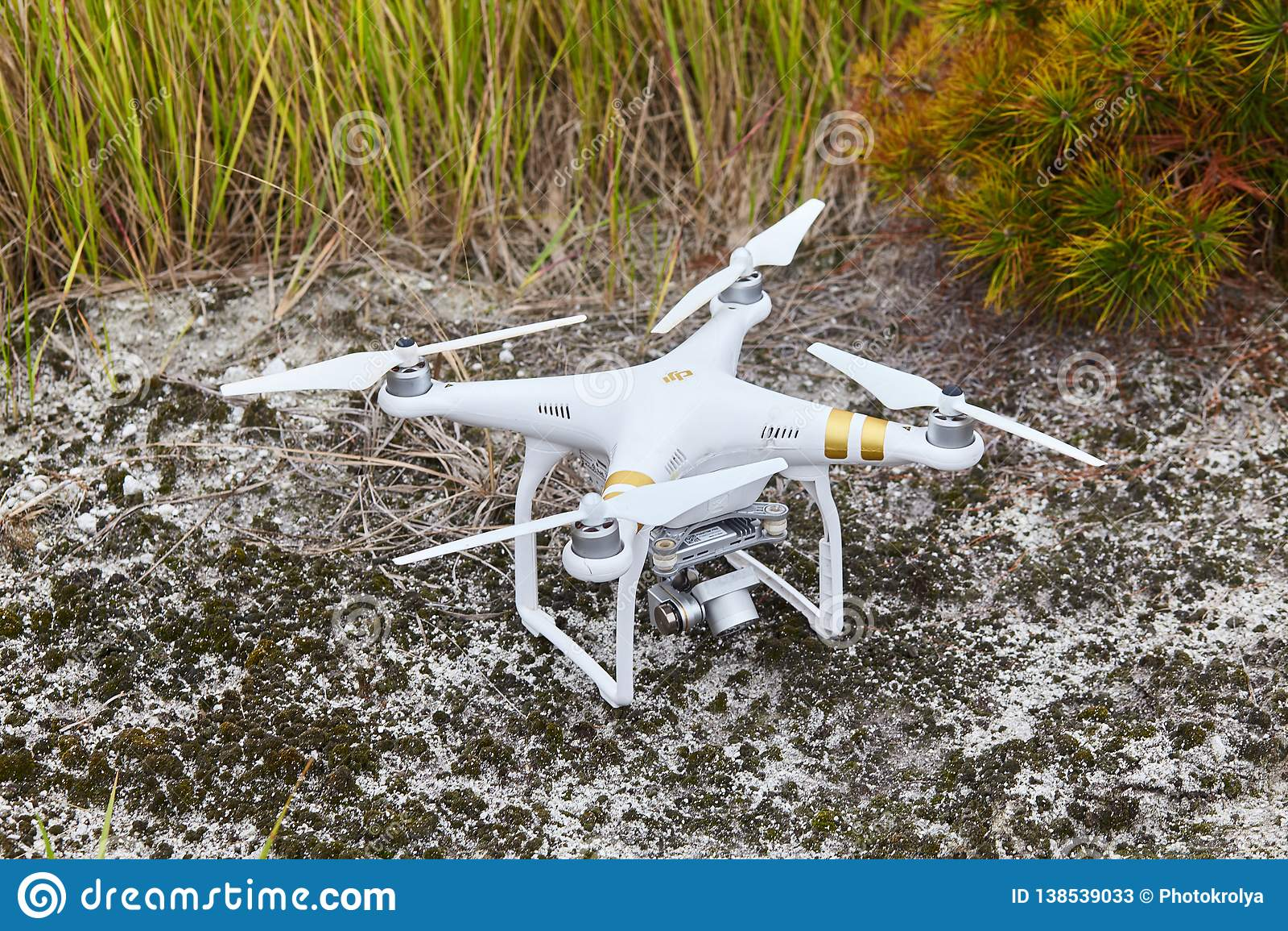 Drone quadrocopter Phantom PRO Professional with high resolution digital camera