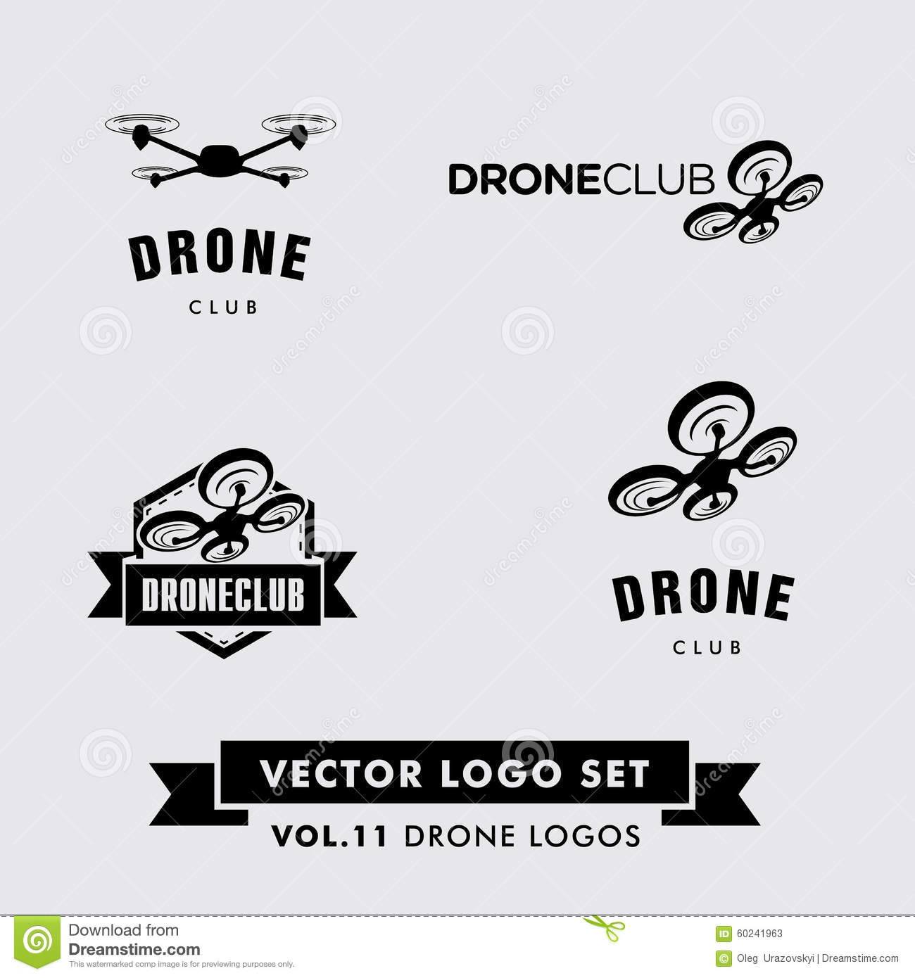 drone vector logo set stock vector  image of emblem
