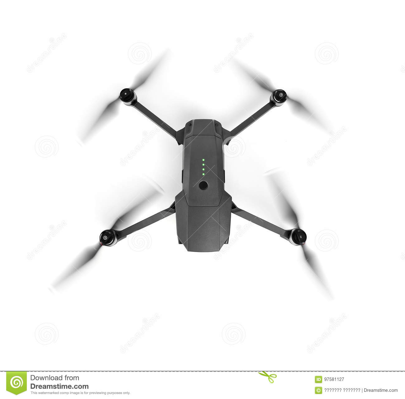Drone on white background. One of the most portable drones