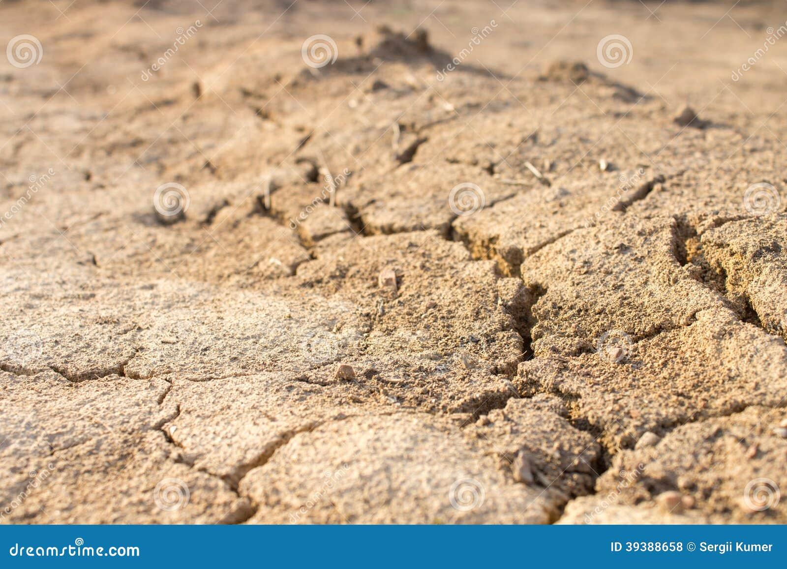 Droogte Grond in zandwoestijn dor klimaat in Thailand