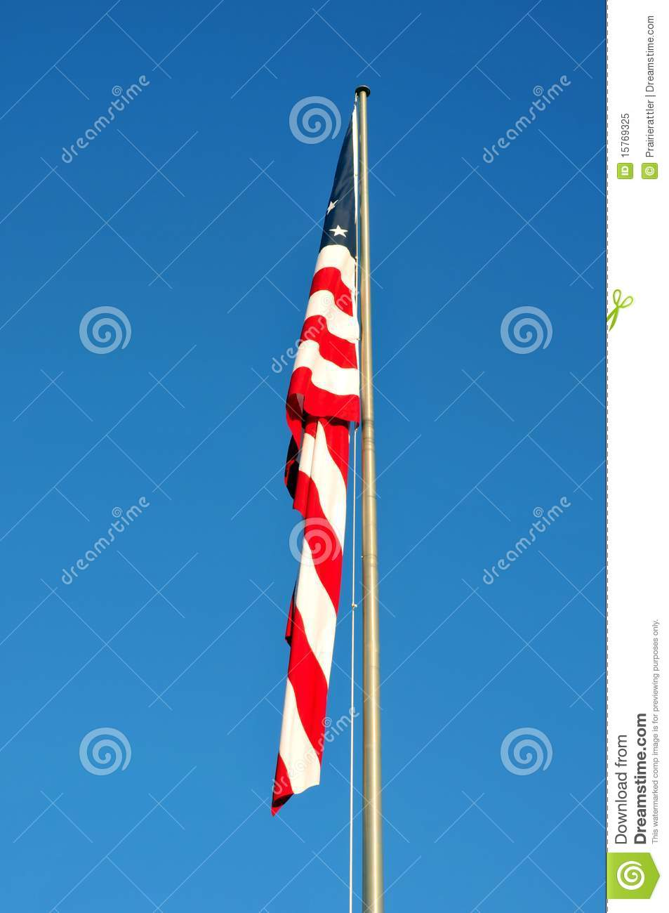 American Flag without Wind to Wave.