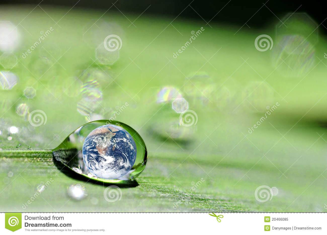 Drop and earth