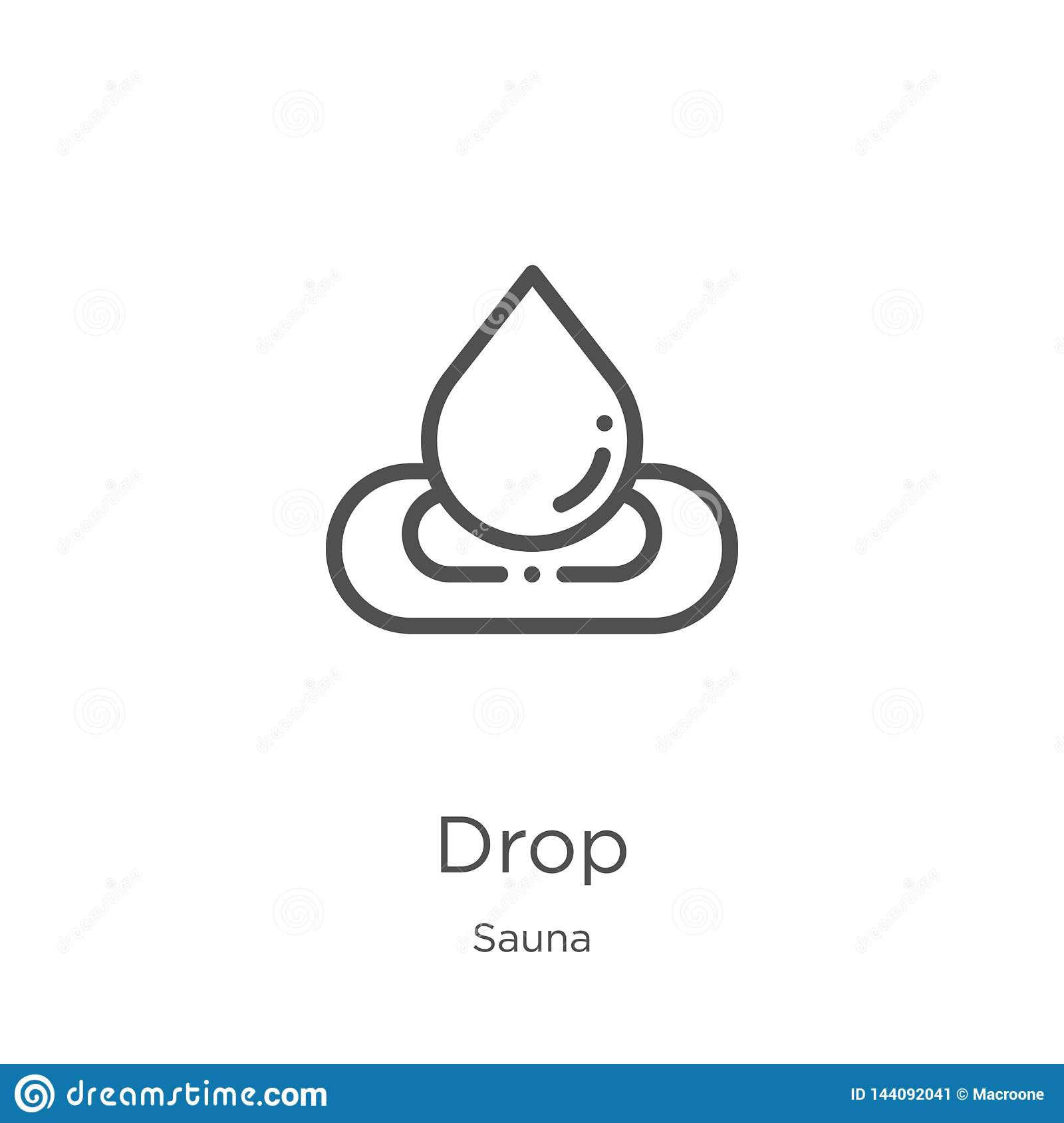 drop icon vector from sauna collection. Thin line drop outline icon vector illustration. Outline, thin line drop icon for website