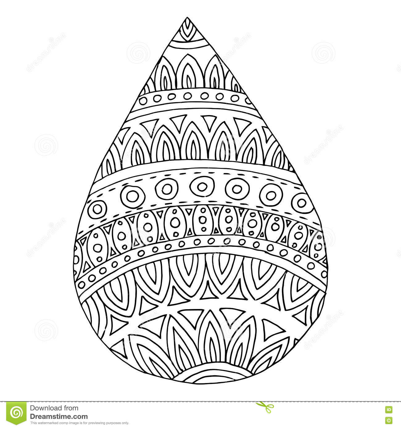 doodle water drop on tribal mandala stock vector image 62830239