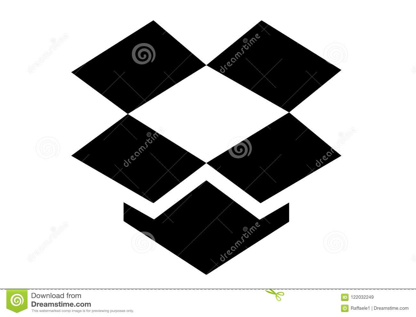 Dropbox Icon Logo Editorial Stock Image Illustration Of Dropbox
