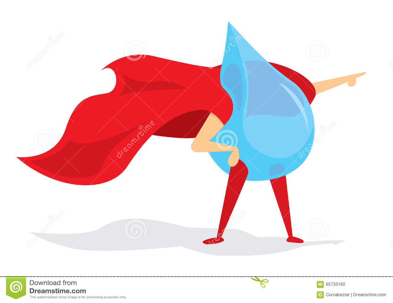 Droppe av den toppna hjälten för vatten med udde