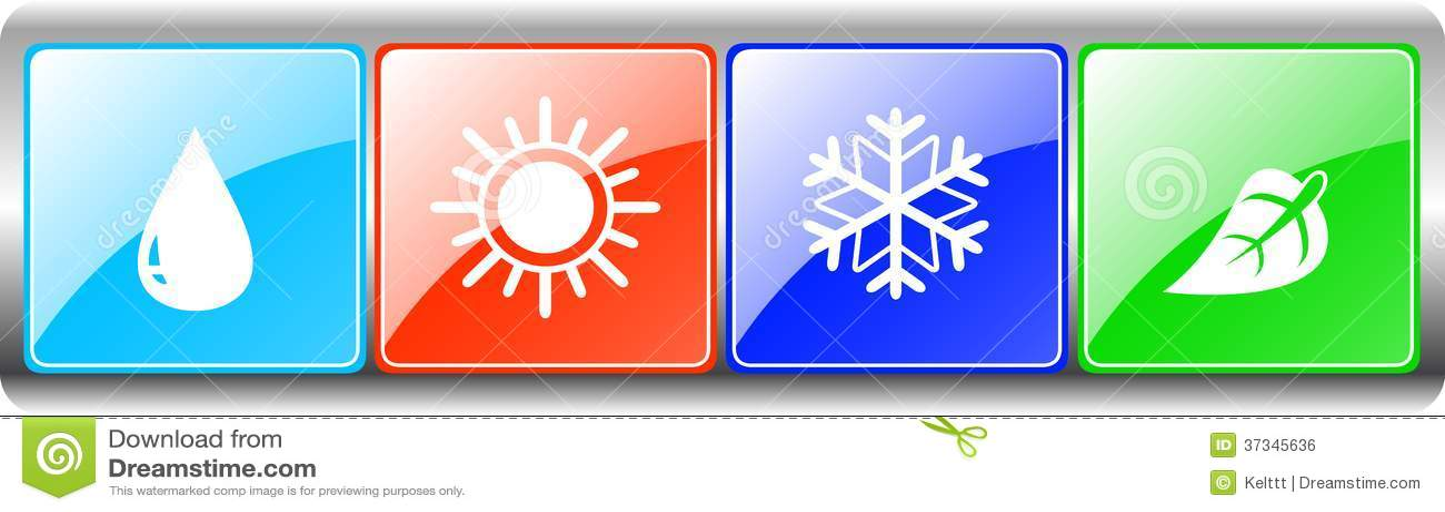 Droppe sol, snöflinga, blad på metallbakgrunden