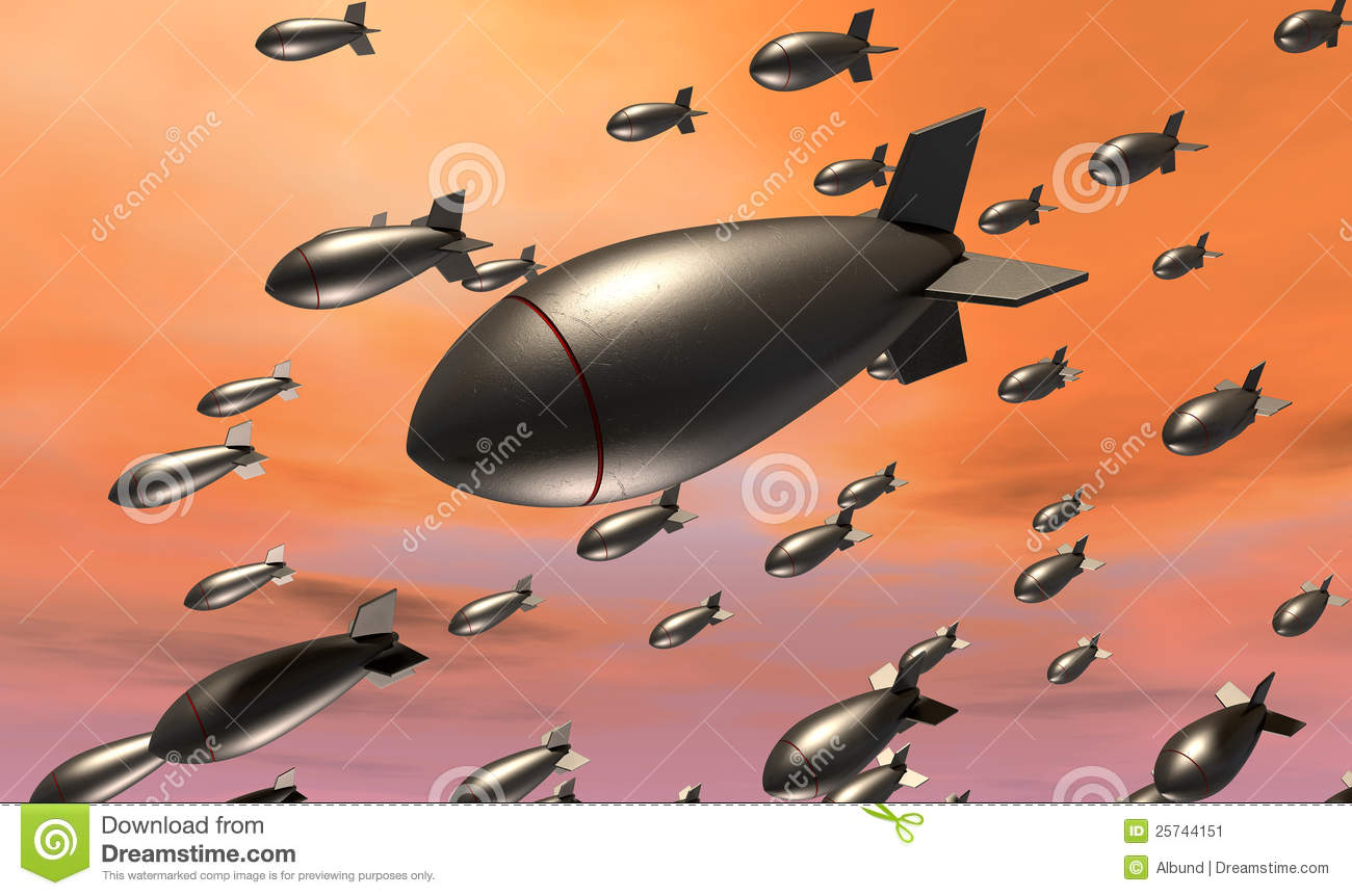 Dropping Bombs Stock Image - Image: 25744151
